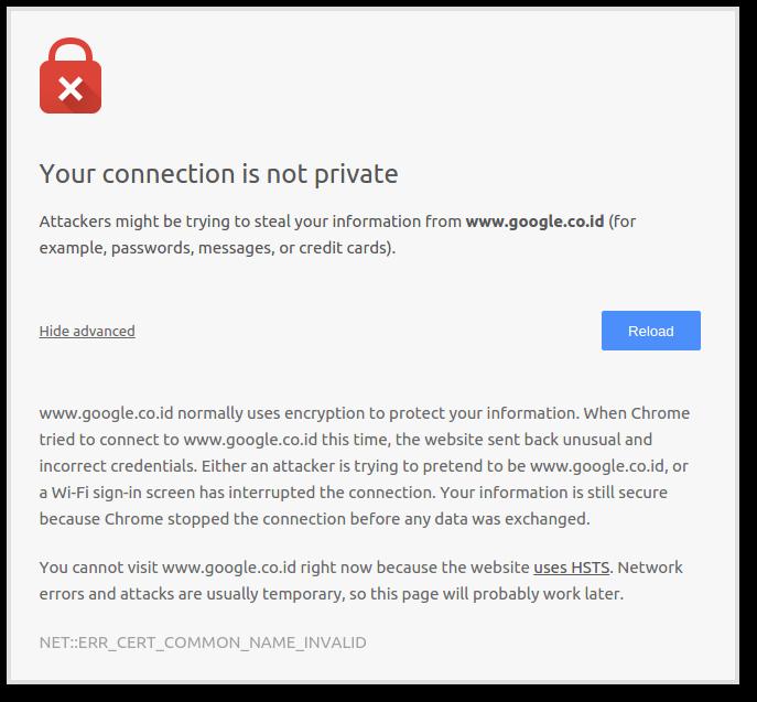Gangguan di google.co.id